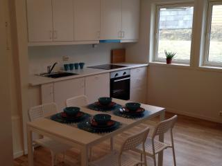 Kitchen and dining area is equipped for 4 persons