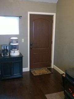 Private entrance & coffee station