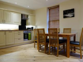 Spacious dining area in the Bakehouse, Mid Wales Holiday Lets, Self Catering Apartments in Rhayader.
