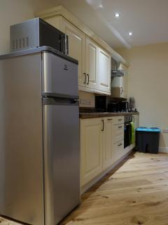 Family kitchen in the Bakehouse, Mid Wales Holiday Lets, Self Catering Apartments in Rhayader.
