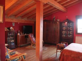 Mangnifica Habitacion Roja, 50 m,  Bano Privado Completo , Frigo, TV, Terraza