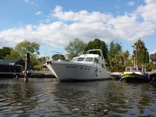 "Luxury Classic Motor Yacht ""Eucala"" at Riverscapes, East Molesey"