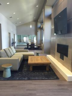 Social area with business center