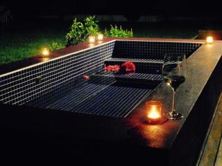 Heated outdoor bath