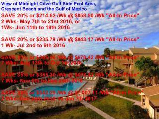 Sun, Sand & *Save 20% to 35%* Midnight Cove #532, Sarasota