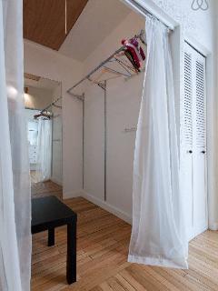 Huge walk-in closet in master bedroom.