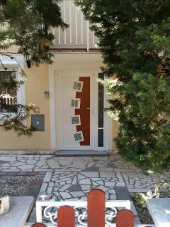 The house entrance.