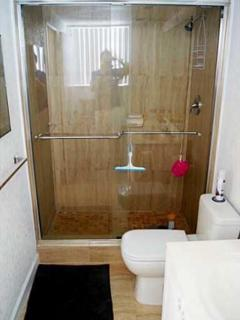 Bathroom 1 with shower stall