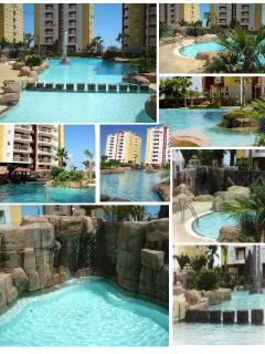 Luxury 2 Bed Apartment, beautiful guests only pool with baby section and jacuzzi. 50 mtrs to beach
