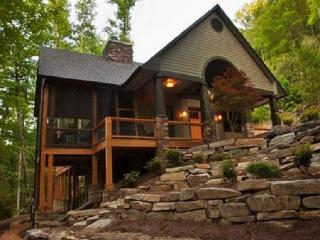 Luxury on the Creek, 2 Fireplaces, Hot Tub, Fishing, Swimming, and Lake Access!, Bryson City