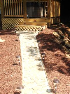 Path leads to the Sparkling Hot Tub!