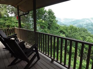 Covered View Deck offers relaxation, Rain or Shine!