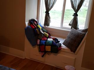 Cozy window knook, perfect for sipping coffee or tea
