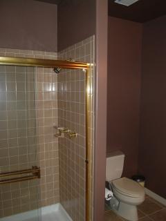 Tiled shower enclosure