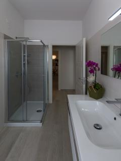 The comfortable bathroom