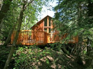 Vaulted Ceilings, Hot Tub, Hillside Cabin, Convenient Location