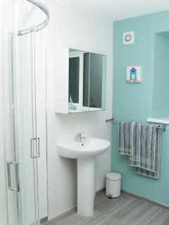 Family bathroom with walk in shower
