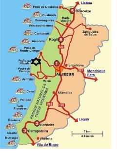 Localização e área arredondante Localization and area