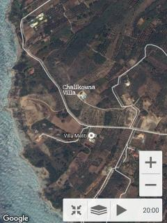 Satellite view from Villa Petrino Chalikounas Corfu Greece