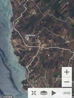 Satellite view from Villa Petrino Chalikounas Corfu Greece