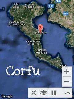 Corfu Island satellite view