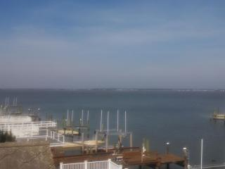View from top deck overlooking bay