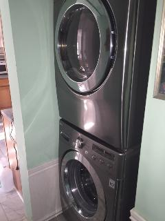 New stainless steel washer and dryer