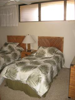 Second bedroom.  Twin beds can be converted into a king.