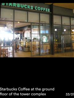 Starbucks coffee at the ground floor of the tower complex