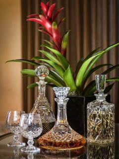 Select an after dinner drink from the liqueur tray.