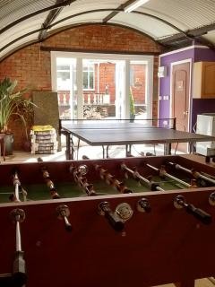 Inside of Games Room, with Ping-Pong, table football, pool, darts, reading/drawing area