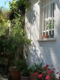 Vue sur façade et jardin