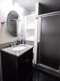 Master suite with shower only