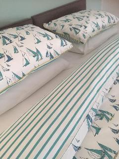 Crisp cotton Seasalt bedding for coastal chic