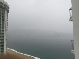 Balcony view when the Bay has a foggy day