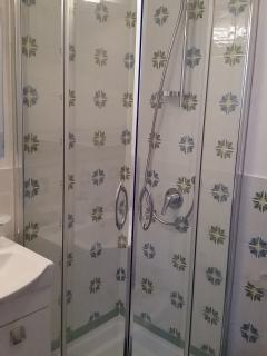 The new shower.