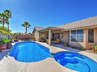 New Listing! Gorgeous 4BR Glendale Home w/Private Swim-Spa Pool,  Outdoor Living Space & Luxury Amenities in Quiet Neighborhood - Minutes from Sports Venues & Phoenix Attractions!