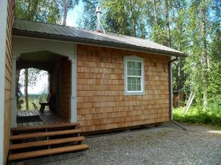 Exterior of smaller cabin. Rental includes both cabins.