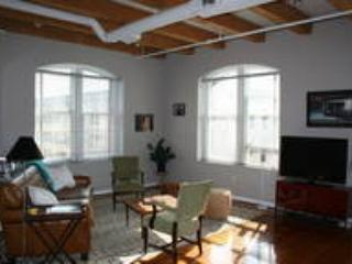 Other angle of living room area, 2 big windows, lots of light