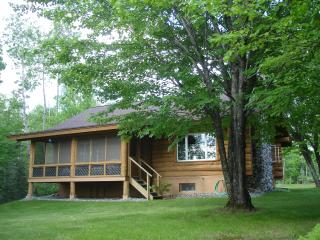 White Cedar Log Home on Scenic Balsam Lake, Grand Rapids