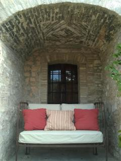 lovely niche, cozy and comfortable for conversation, a midday catnap or to admire  the moon at night