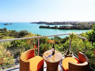 Spectacular 180 degree views from this stunning location, Isla Waiheke