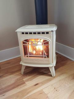 Cozy gas fire place for fall and winter