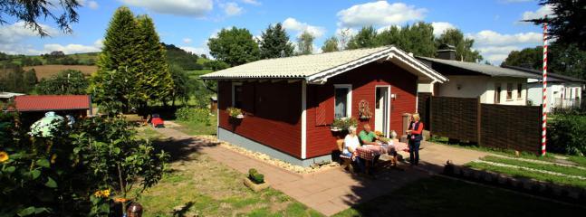 Ferienhaus Rhönbude im Sommer