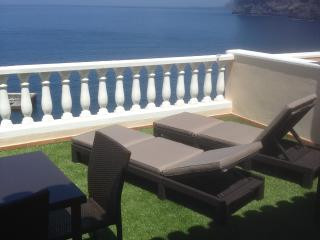 terrace overlooking the cliffs