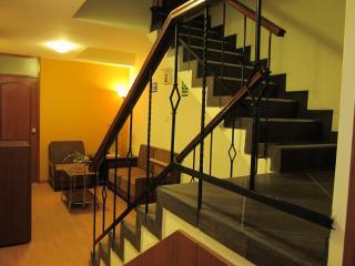 escaleras para subir a la lavandería