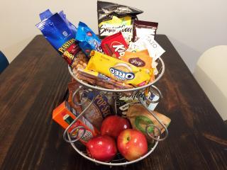 Snack basket left for you.