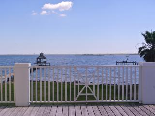 View of the water from the large deck