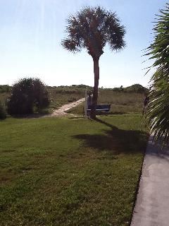 Path to our private beach from our beach cabana on the Gulf side