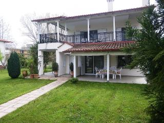 Two-storey villa with garden, shady parking place, Leptokarya